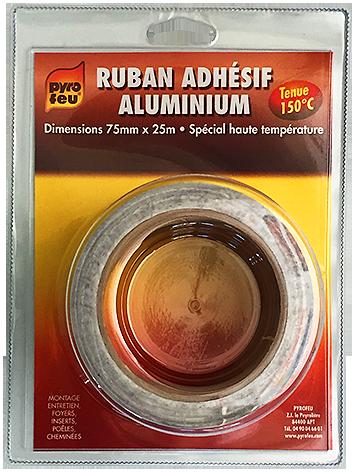 Pyrofeu : Réfractaires RUBAN ADHESIF ALUMINIUM 10 ML